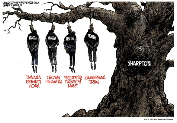 Ramirez Depicts Sharpton as the tree on which others are lynched