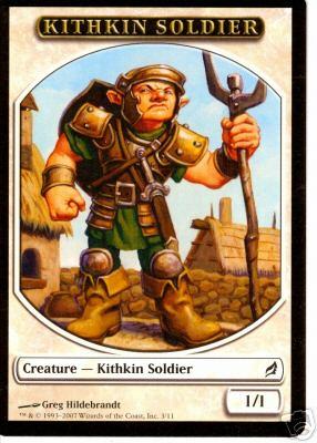 A token illustraion of a kithkin soldier